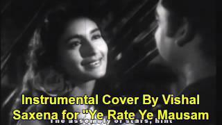 Ye Rate Ye Mausam Nadi Ka Dilli Ka Thug Kishore Kumar hindi song instrumental cover Vishal saxena