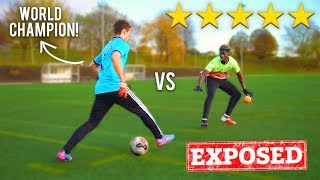 I Challenged the WORLD CHAMPION To A PANNA Football Competition.. I GOT NUTMEGGED