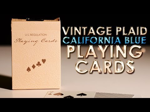 Xxx Mp4 Deck Review Vintage Plaid California Blue Playing Cards HD 3gp Sex