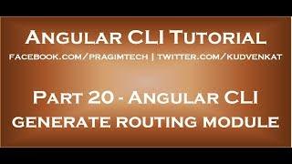 Angular CLI generate routing module