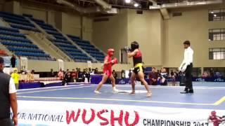 25th senior National Wushu  championships 2017 (Rameshchandra) 2nd round final fight