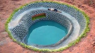 Dig To Build Most Underground Water Slide House Around Swimming Pool By Ancient Skill