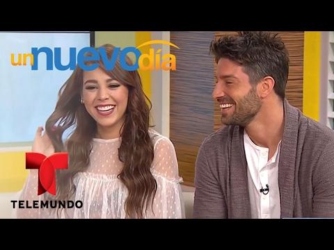 Danna Paola y David Chocarro llegan a nuestra casita Un Nuevo Día Telemundo