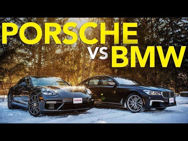 2018 BMW M760i vs Porsche Panamera Turbo Comparison | Which Luxury Winter Beater Wins?