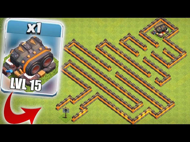 STILL UNDEFEATED!!   CLASH OF CLANS   LVL 15 CANNON MAZE BASE!!