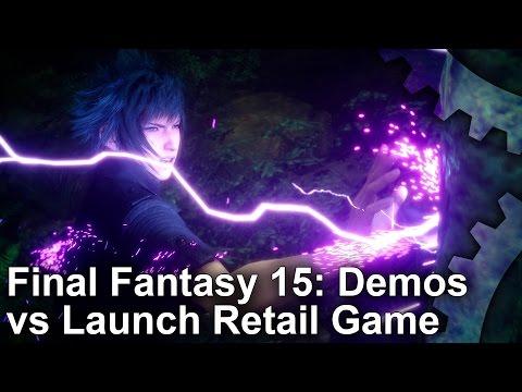 watch Final Fantasy 15: 2006-2016 Demos vs Final Game Graphics Comparisons