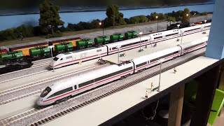 FLEISCHMANN ICE TRAIN high speed 145 mph run from new station & back