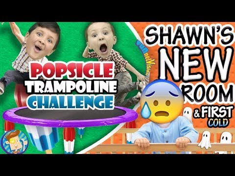 POPSICLE Trampoline Challenge Shawn s New Bedroom Baby s First Cold ๑◕︵◕๑ FUNnel Vision VLOG