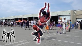 Spiderman Flips In Public at Anime North 2018 (In Real Life)