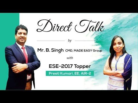Xxx Mp4 Direct Talk By Preeti Kumari EE AIR 2 ESE 2017 With Mr B Singh CMD MADE EASY Group 3gp Sex