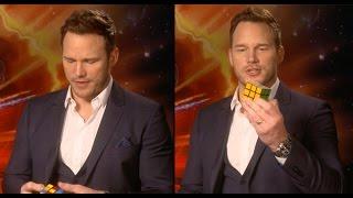 Chris Pratt Completes A Rubik