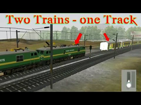 two trains running on one track & accident.indian train simulator