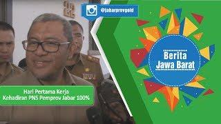 Jabarprov TV - Hari Pertama Kerja, Kehadiran PNS Pemprov Jabar 100%