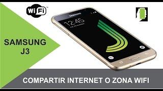 SAMSUNG GALAXY J3 Como Compartir Internet O Zona Portatil WIFI HD