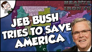 Jeb Bush Tries to Save America on the Red World mod Hearts of Iron 4 hoi4