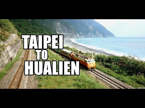 Traveling on a train from Taipei to Hualien, Taiwan!