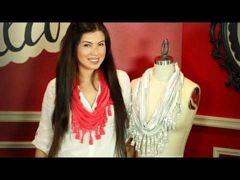 Quick and easy DIY Spring scarf