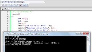 C Programming Tutorial - 56: Introduction to Pointers
