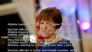 Atlanta mayoral election recount begins Thursday
