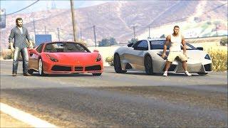 تحدي قوي بين فيراري و لمبرجيني قراند 5   GTA V Ferrari VS Lamborghini