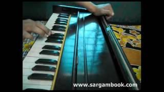 Apsara Aali (Natrang) Harmonium Tutorial ~ Sargam Book
