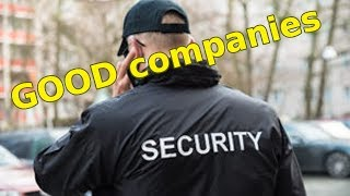 Get a SECURITY Job: Good Companies to Look For