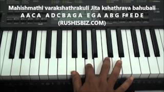 Bahubali Theme Music Piano Notes - VIDEO TUTORIALS