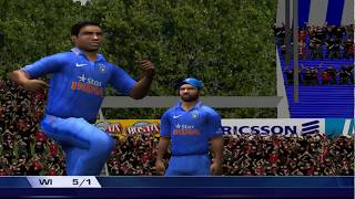 West Indies vs India 5th ODI Match Highlights #EA Sports Cricket 17 Game play