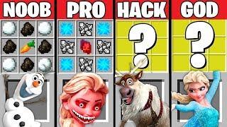 Minecraft Battle: FROZEN ELSA CRAFTING CHALLENGE ~ NOOB vs PRO vs HACKER vs GOD – ELSA EXE Animation