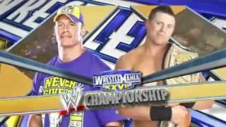 WWE Wrestlemania 27 Match Card