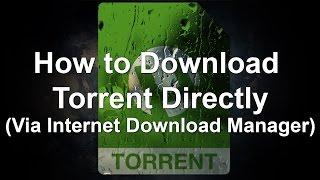 How to Download Torrent through Direct Link (via IDM) (No uTorrent needed)