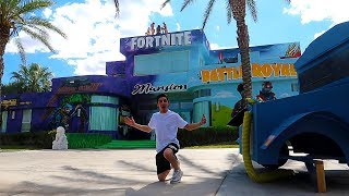 VISITING THE FIRST EVER FORTNITE MANSION IN THE WORLD!! **insane house tour**