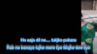 Rab ne banaya tujhe mere liye Karaoke by Rajesh Gupta Heer Ranjha 1992 Anwar & Lata ji