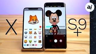 Animoji vs AR Emoji - iPhone X vs S9 Plus