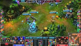 XDG vs CST - 2014 NA LCS Super Week W1D3