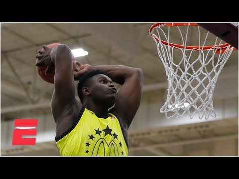 Zion Williamson dominates high school dunk contest Powerade Jam Fest