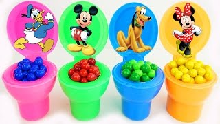 Mickey Mouse Clubhouse Fidget Spinner Toilet Surprise Candy Toy Learn Colors for Kids and Children