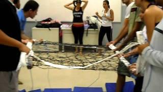 Aula de ginástica: salto mortal