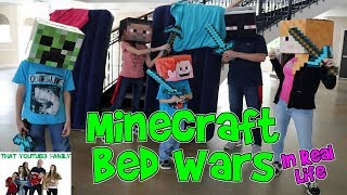 MINECRAFT BED WARS IN REAL LIFE / That YouTub3 Family