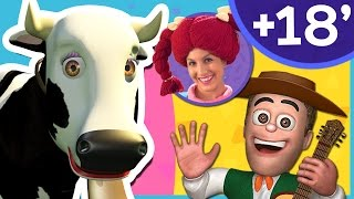La Vaca Lola | La Granja de mi Tío y Más | Canciones infantiles para aprender los animales | A Jugar