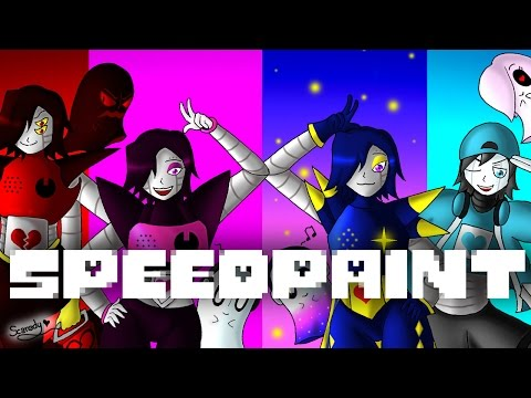 SpeedPaint! Alternative Universe Mettaton and Napstablook (Undertale AU's) Part 1