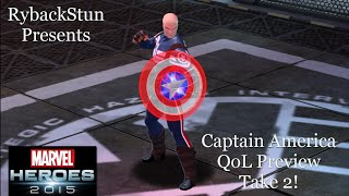 Marvel Heroes: Captain America QoL Preview! Take 2!