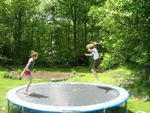 Me and emily doing gymnastics