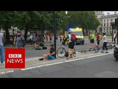 Xxx Mp4 Westminster Car Crash One Of The Cyclists Got Up And Started To Chase The Car BBC News 3gp Sex