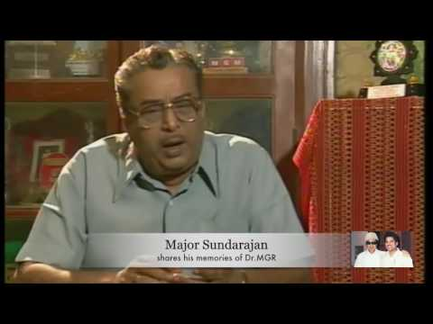 Major Sunderajan shares his friendship and memories of  Dr.MGR