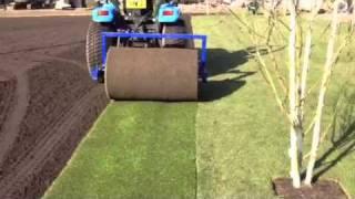 Big roll turf installation