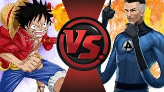 LUFFY vs MR.FANTASTIC! Cartoon Fight Club Episode 46