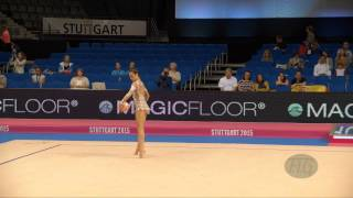 Sara Mohamed ROSTOM (EGY) 2015 Rhythmic Worlds Stuttgart - Qualifications Ball