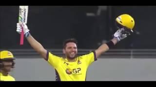 Shahid Afridi psl highest sixes Peshawar  Vs Gladiators   YouTube