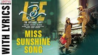 Miss Sunshine Song With Lyrics | Lie Songs | Nithiin , Megha Akash | Mani Sharma | Hanu Raghavapudi